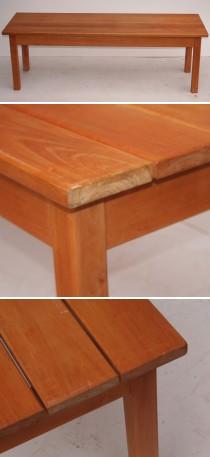 klapborde med bænke til væg